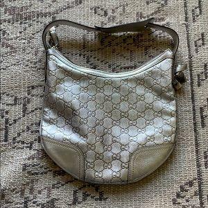 Gucci silver logo mini bag